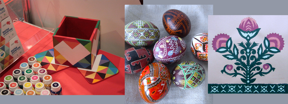 Christmas Eggs, vytynanki, application